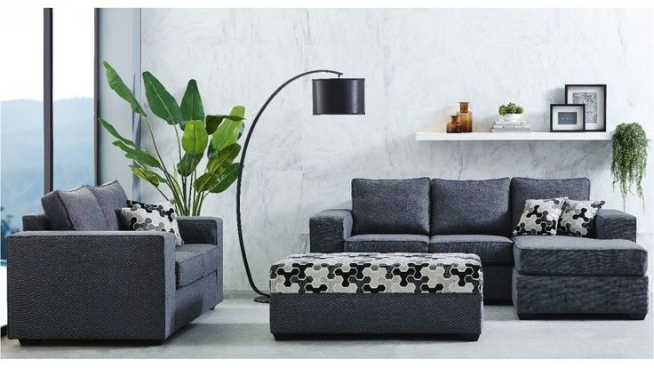Midtown 3 Piece Fabric Lounge Suite - Living Room - Furniture, Outdoor & BBQs | Harvey Norman Australia