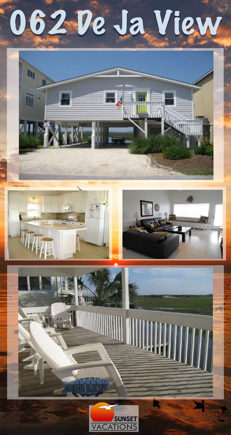 This 4 bedroom vacation rental home features beautiful interior appointments and gorgeous inlet views! Book your Sunset Beach, NC beach vacation now!!