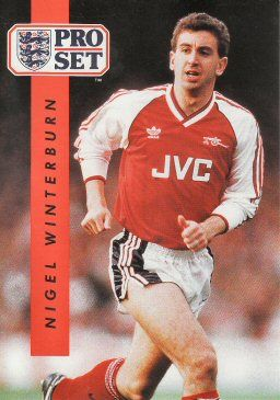 1990-91 Pro Set English League #4 Nigel Winterburn Front
