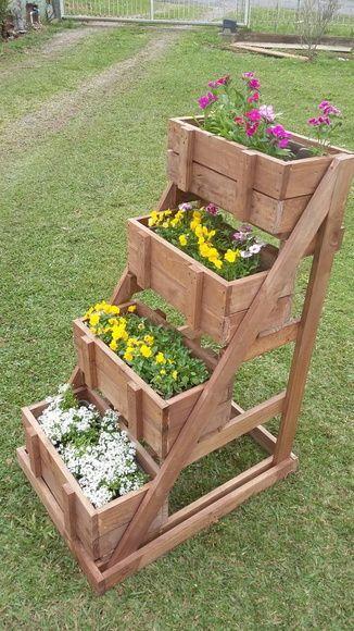 floreira com caixotes