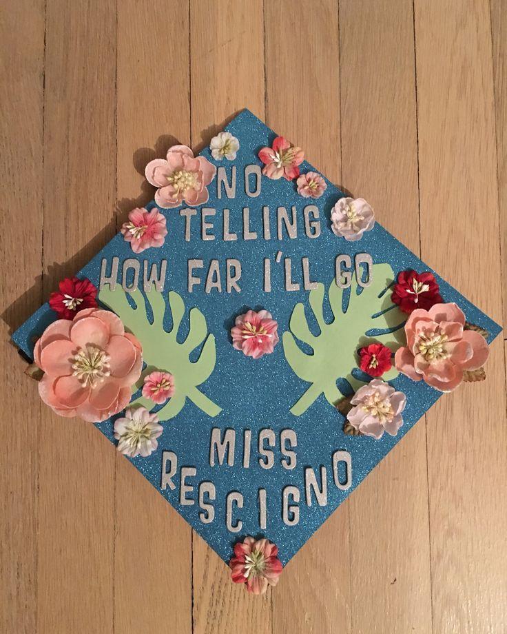 Moana inspired graduation cap MA in education  2017