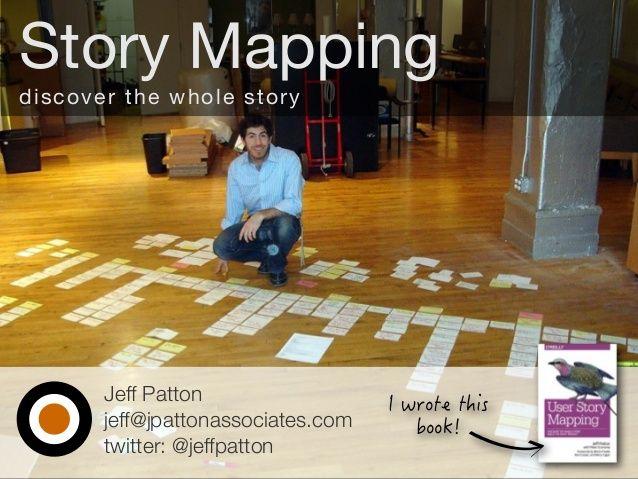 Jeff Patton jeff@jpattonassociates.com twitter: @jeffpatton Story Mapping discover the whole story