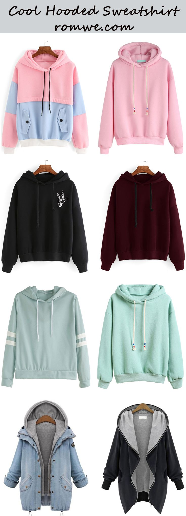 Cool Hooded Sweatshirts from romwe.com