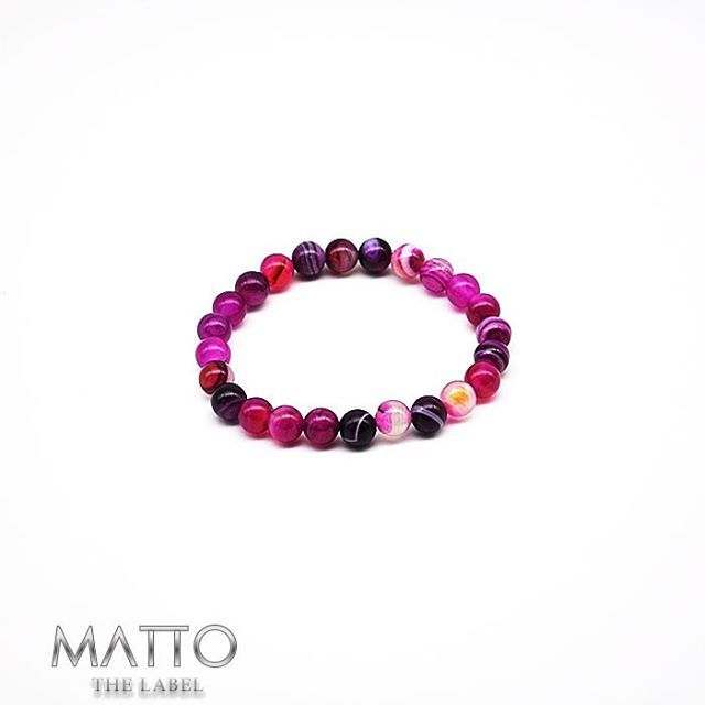 MATTO THE LABEL | | Simple | Elegant | Divine | | Follow us on Facebook & Instagram | Pink Agate Natural Stone Bracelet - put your order in now