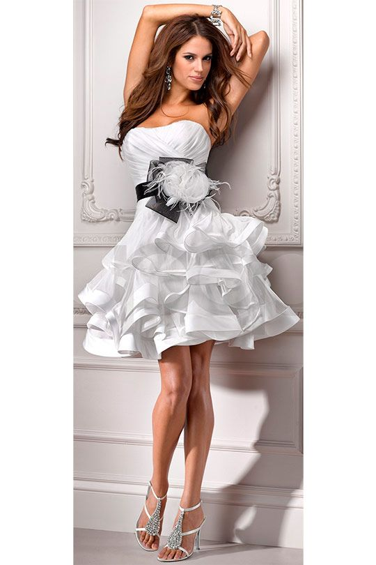 Short wedding dresses (49 photos) 2013