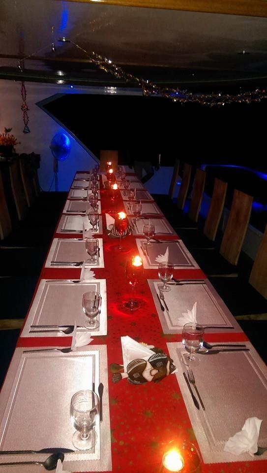 CENA DI NATALE ALLE MALDIVE A BORDO DEL MY CONTE MAX E MY DUCA DI YORK  CHRISTMAS DINNER AT THE MALDIVES ON BOARD OF MY CONTE MAX AND DUKE OF YORK