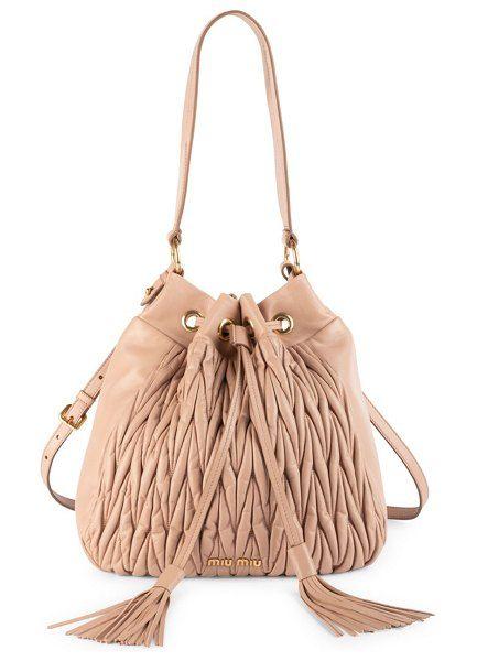 461bf8768c37 Miu Miu matelasse leather double strap bucket bag.  miumiu