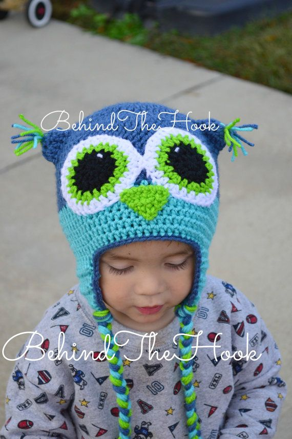 Crochet Owl Hat for Newborn Babies Toddlers and by Behindthehook, $20.25 EVERYTHINGS ON SALE! Visit my shop at www.behindthehook.etsy.com