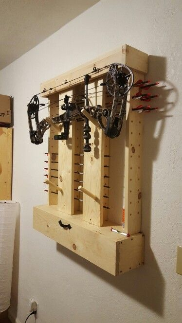 Diy bow rack …