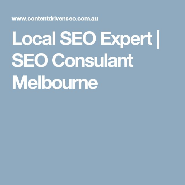 Local SEO Expert   SEO Consulant Melbourne