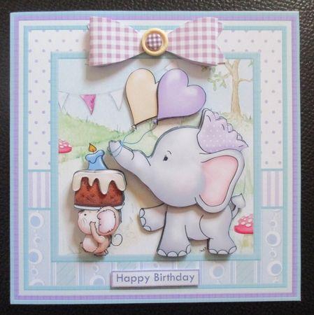 ELLIES LOVE PARADE 8x8 Birthday Decoupage Insert & Ages Mini Kit - CUP762523_68 | Craftsuprint