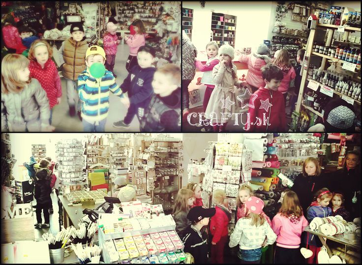 Milá návšteva kreatívnych detičiek u nás v crafty.sk
