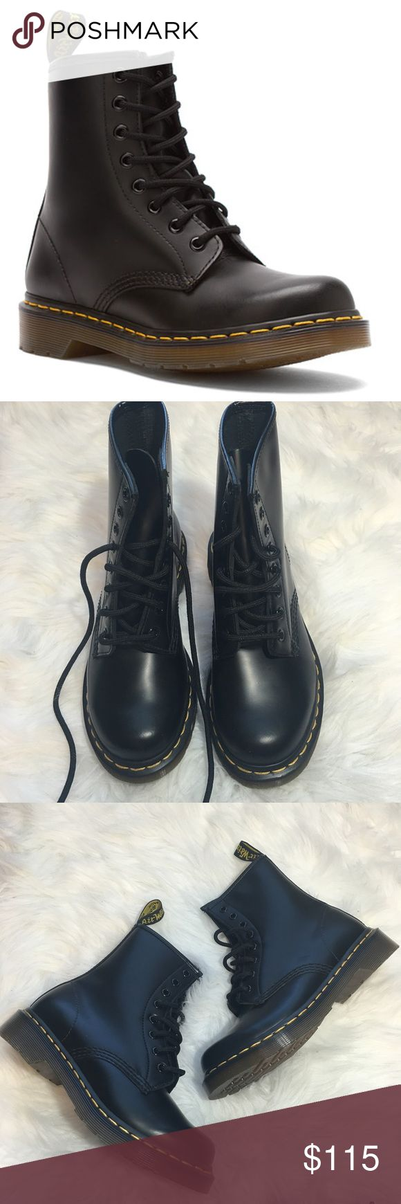 New Dr. Martens Black Boots So cute and perfectly on trend! Brand new and never worn. Size 6 women's. Matte black. No trades!! Dr. Martens Shoes Combat & Moto Boots