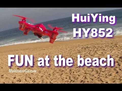 Having Fun With HuiYing HY 852 Quadcopter at the Beach I will post the Review soon. You can get it cheap here: http://shrsl.com/?~8rjx  or here: http://shrsl.com/?~8rjy