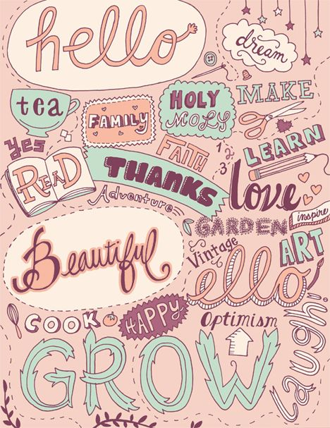 Cute hand lettering by Rhianna Lederman