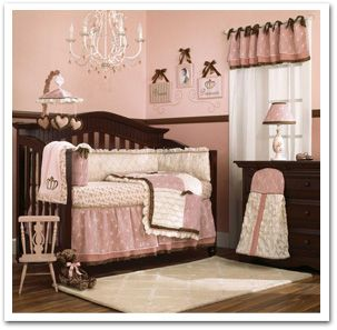 girl nursery bedding | Timeless and sophisticated baby girl crib bedding