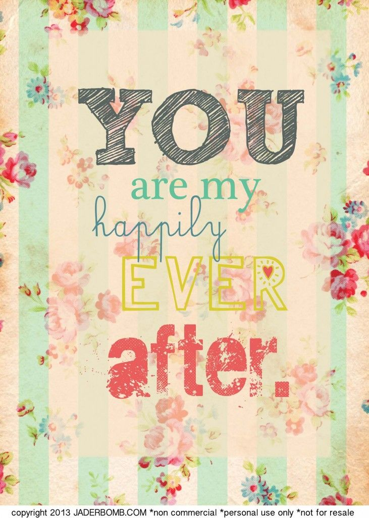 Free Happily Ever After Printable from #jaderbomb