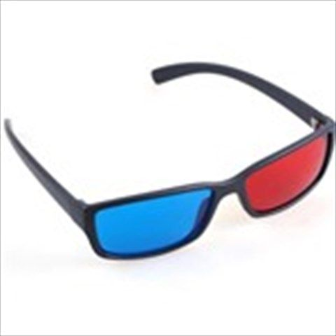 Stylish Red+ Blue/ Cyan 3D 3 Dimensional Anaglyph Glasses for Movie DVD Prints Magazines TV