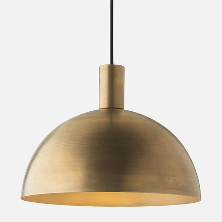 Schoolhouse Electric Schoolhouse Electric Shelby Mod Natural Brass Pendant Light with Bowl / Dome Shade 113426