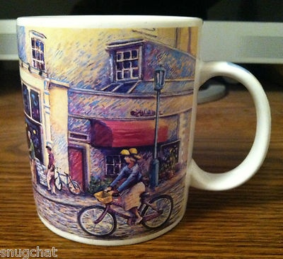 A unique Starbucks mug that displays artwork of the quaint Pacific Northwest flagship store that started all the caffeinated fuss in April of 1971.