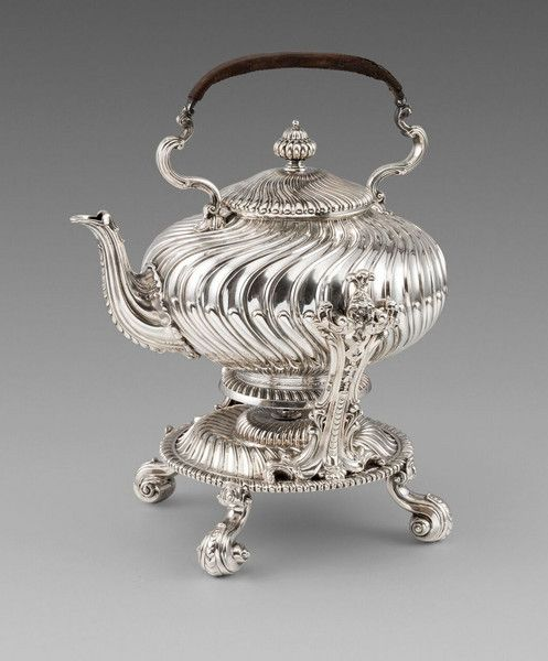 A Victorian Kettle on Stand (1850 United Kingdom) ROBERT GARRARD II, LONDON (worked 1818-1881)