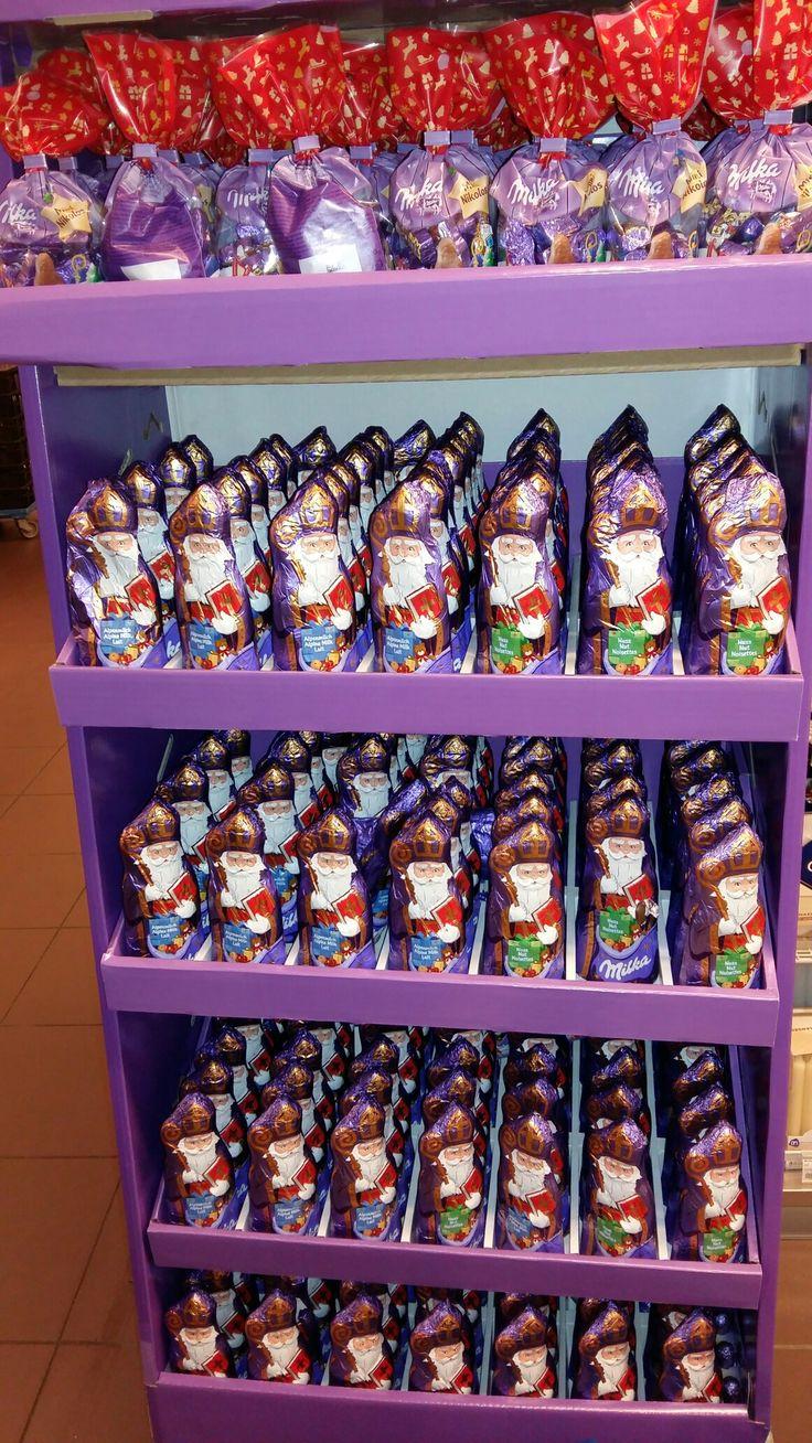Sinterklaas Sankt Nikolaus chocolade figuren van MILKA