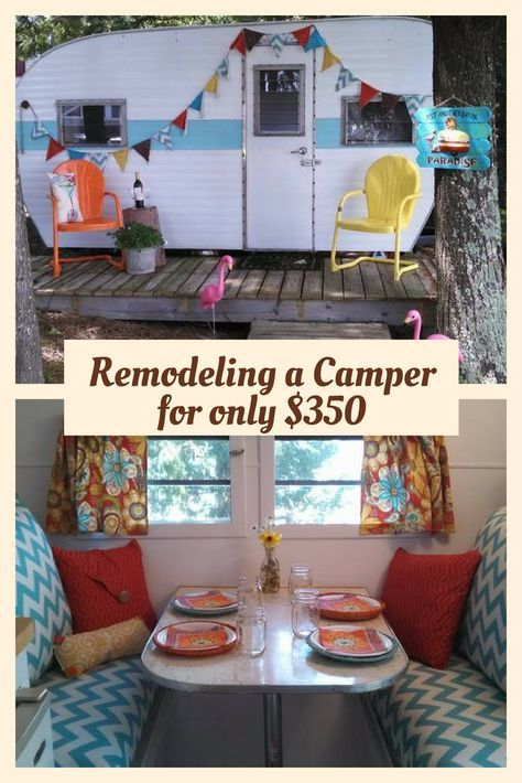 Best Trailer Revamp Images On Pinterest Caravan Ideas - Old shabby trailer gets one hell makeover