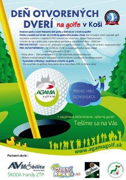 Golf v Koši, driving range a 9-jamkové golfové ihrisko Zľava: 20% green fee