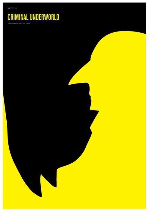 Great use of negative space and contrast and and awesome way to represent the opposite good/bad characters.