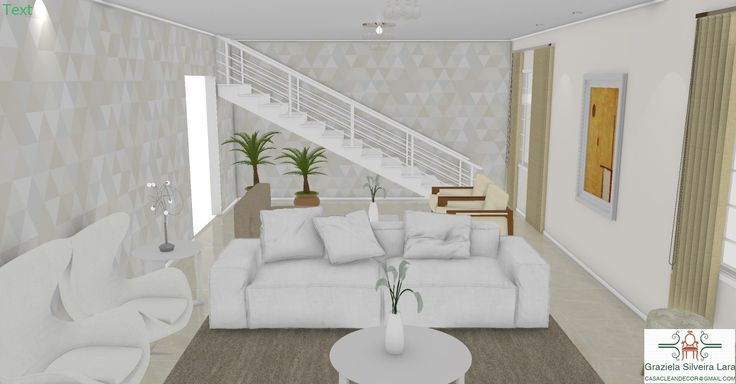 Construindo Minha Casa Clean: Projeto de Salas Integradas TV, Estar e Jantar - Consultoria Online!