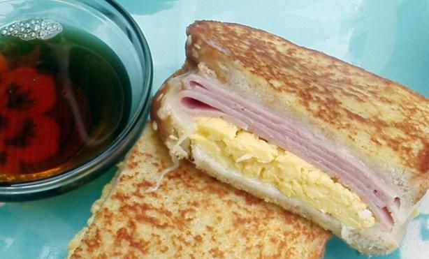 French Toast Breakfast Sandwich With Canadian Maple Syrup from Food ...