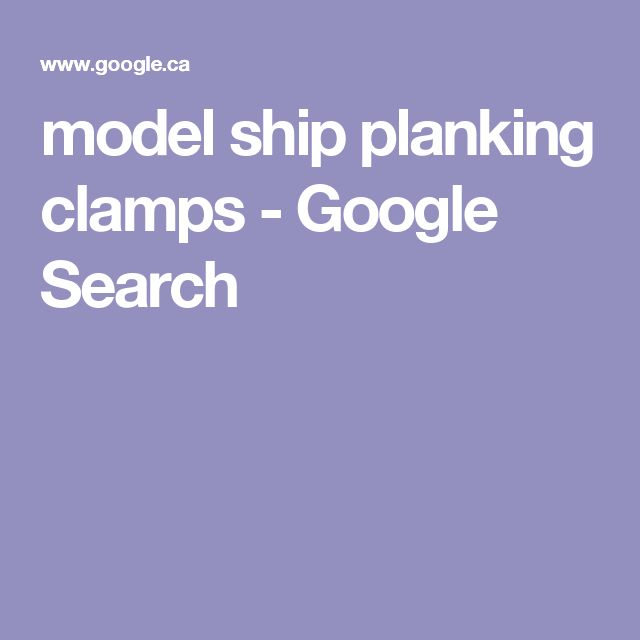 model ship planking clamps - Google Search