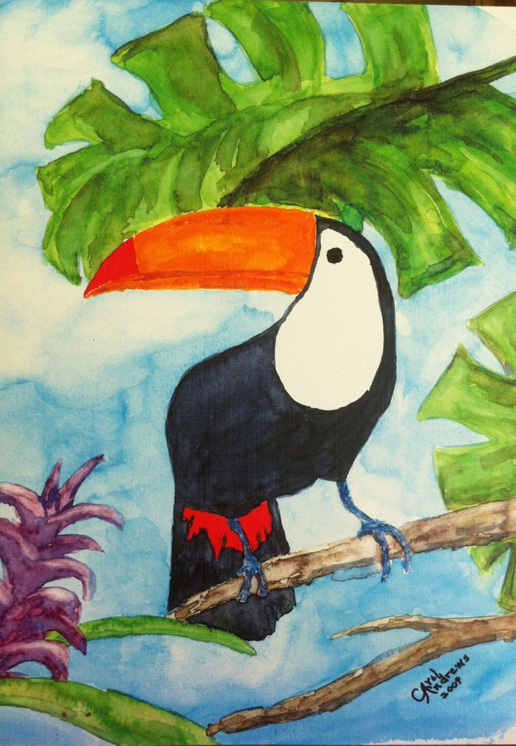 Tropical Toucan by carolinspiration on Etsy https://www.etsy.com/listing/199448854/tropical-toucan