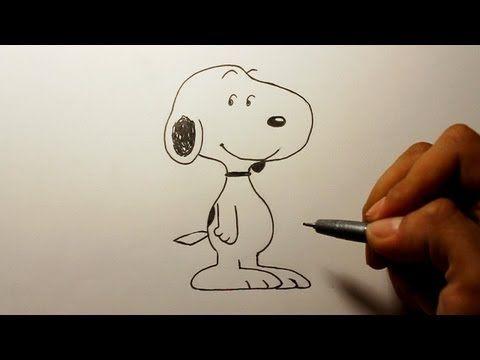 Wie zeichnet man Snoopy [Peanuts] zeichen tutorial - YouTube