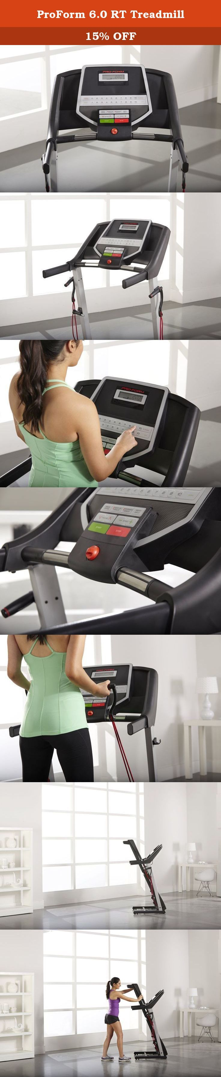 ProForm 6.0 RT Treadmill. Get the workout you want with the ProForm 6.0 RT Treadmill. With 8 workout apps, you can personalize your workout to focus on Calorie-Burn or time goals. The simple navigation makes it quick and easy to pick your workout and get going! and, with the built-in intermix acoustics 2.0 sound system, you can plug in your iPod or MP3 player into the Interplay music Port and move to the beat of your favorite music! plus, with treadsoft cushioning, you will get maximum...