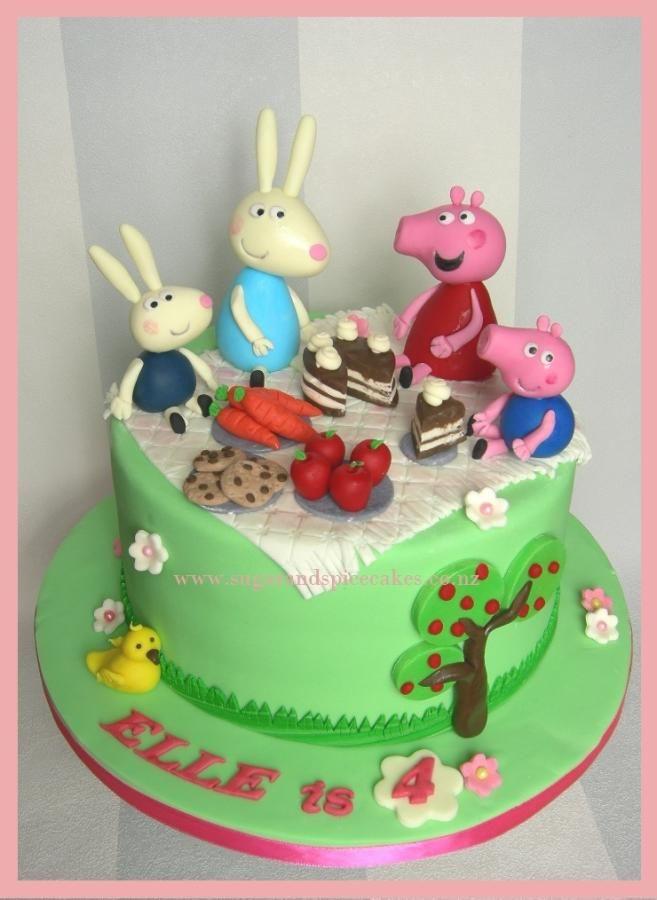 Peppa and Friends Picnic ~ - Cake by Mel_SugarandSpiceCakes