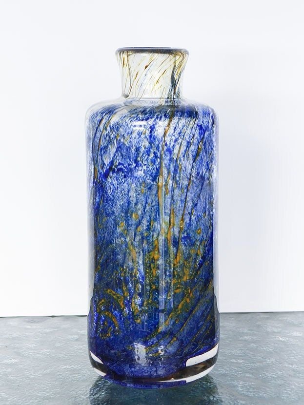 Botella cristal de Murano en tonos azules- El Desván de Bartleby