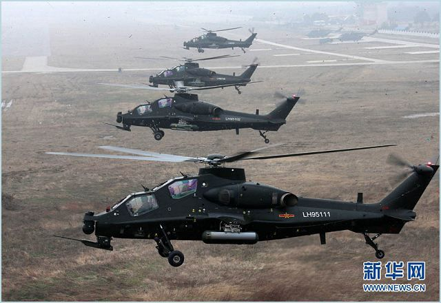 China Delivers WZ 10 Attack Helicopters to Army (video) The People's Liberation Army has equipped all of its ground force aviation units with advanced WZ-10 combat helicopters, according to PLA media. Several WZ-10s have been delivered to an aviation brigade of the PLA 13th Group Army under the Western Theater Command, the military's TV news channel r... http://www.liveworldnews.co/china-delivers-wz-10-attack-helicopters-army-video #world #news