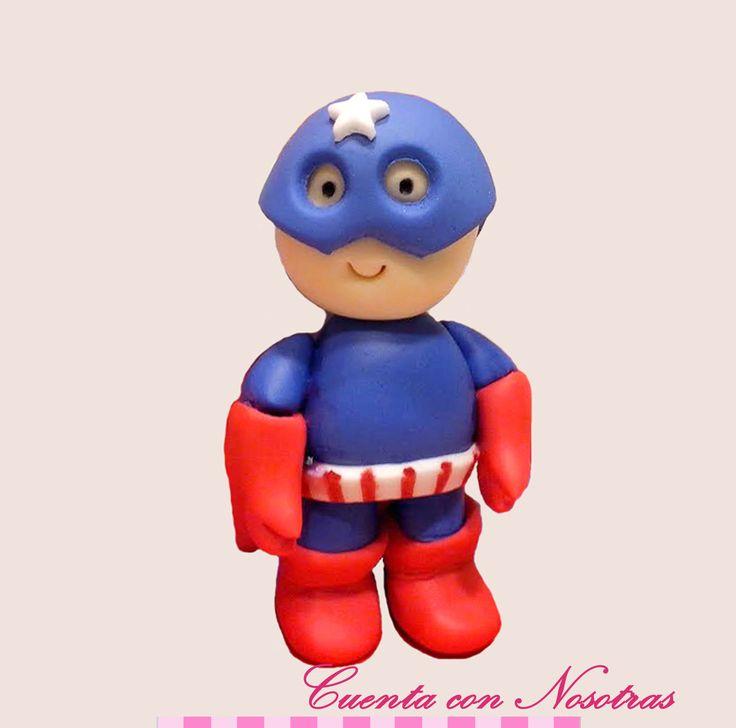 Modelado Capitan America fondant