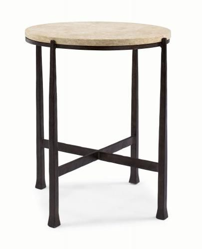 Duncan Storage Coffee Table: Duncan Round Metal Side Table 418-123S Bernhardt 21 9/16