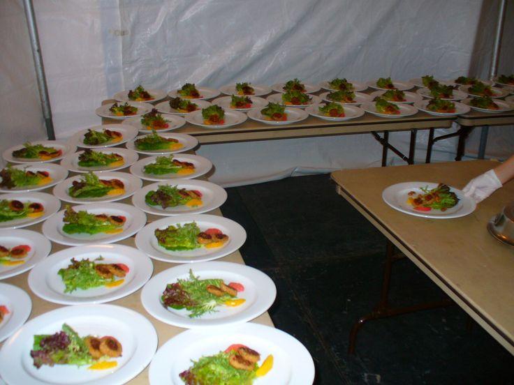Backstage, Catering del Marriott.