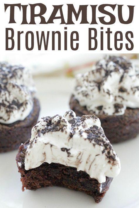 Tiramisu Brownie Bites #ad #tiramisu #brownies