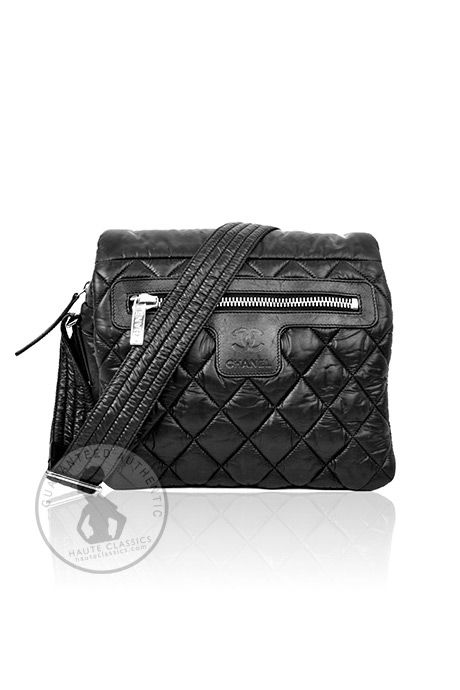 CHANEL Black Quilted Reversible Coco Cocoon Messenger Bag - HauteClassics