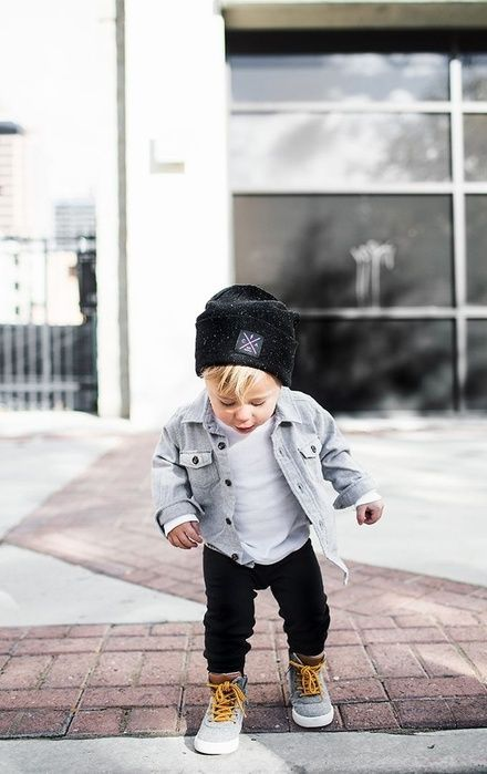 I want this outfit for Benji so bad! I think he should have little Timberlands i…