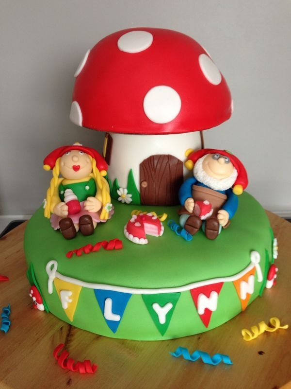 Kabouter Plop 'gnome' fondant cake