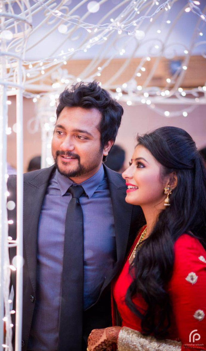 bobby simha actress reshmi reception photos 5