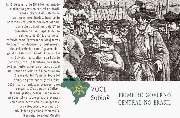 #CNSPNotícias - Você sabia? - 7 de janeiro de 2015 - Tomé de Sousa, governador-geral do Brasil ~ Jornalista Sylvio Micelli