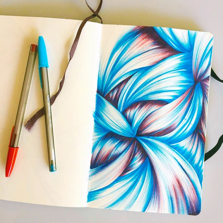 This ballpoint sketchbook drawing became the backdrop for a greeting card. Click through to see the finished product and the process.