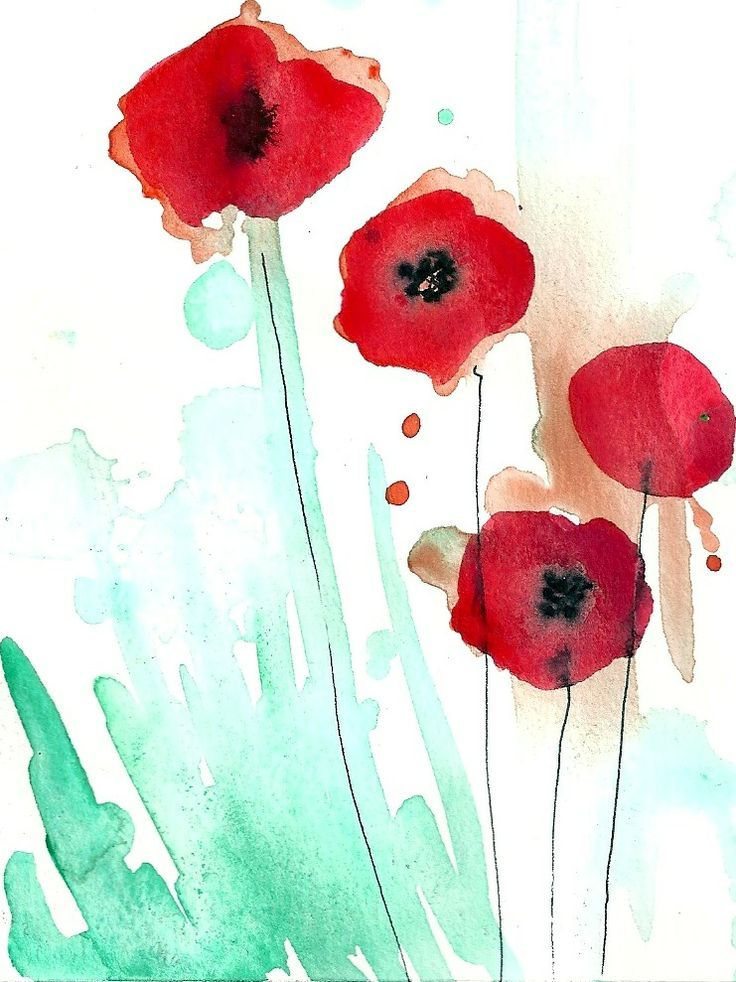 watercolor poppies - Google Search