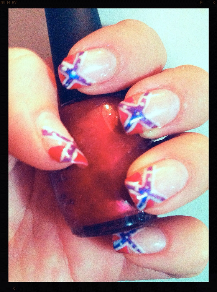 Rebel nails, redneck nails, country girl, southern pride, south, dixie, - The 25+ Best Redneck Nails Ideas On Pinterest Camo Nail Art